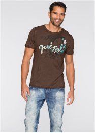 T-Shirt Slim Fit, RAINBOW, braun