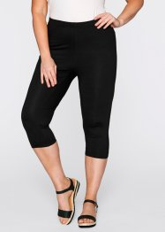 Caprileggings (2-pack), bpc bonprix collection, vit + svart