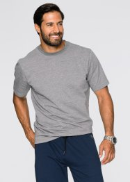 Kurzarm-Sweatshirt Regular Fit, bpc bonprix collection, grau meliert