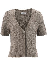 Kurz-Strickjacke, bpc bonprix collection, taupe