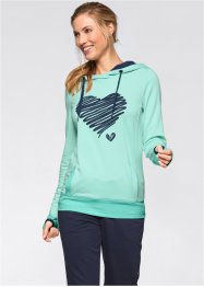 Sweatshirt mit Druck, bpc bonprix collection, pastellmint