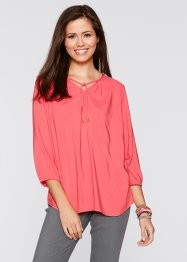 Bluse mit 3/4-Ärmeln, bpc bonprix collection, hellpink