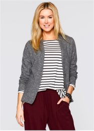 Sweatblazer, Langarm, bpc bonprix collection, grau meliert