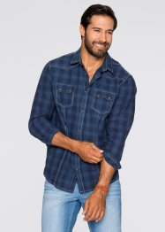 Chemise Regular Fit, John Baner JEANSWEAR, bleu à carreaux