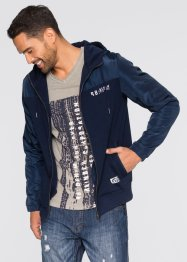 Gilet sweat-shirt Slim Fit, RAINBOW, bleu foncé