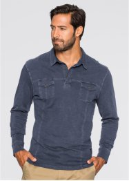 Polo manches longues Regular Fit, bpc bonprix collection, gris fumée