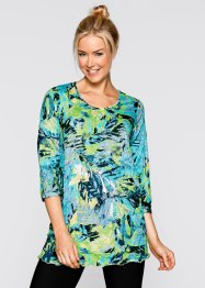 Shirt-Tunika, 3/4 Arm, bpc bonprix collection, hellblau bedruckt