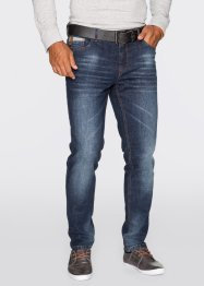 Stretchjeans Slim Fit Tapered, John Baner JEANSWEAR, dunkelblau used