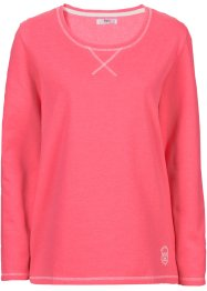 Sweatshirt, bpc bonprix collection, hellpink meliert