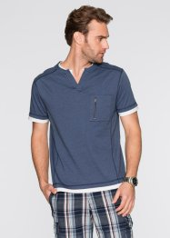 T-Shirt Regular Fit, bpc bonprix collection, dunkelblau geringelt
