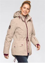 Funktions-Outdoor-Langjacke in 2-in-1-Optik, bpc bonprix collection, kieselgrau