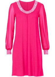 Kleid mit Zierstein-Applikation, BODYFLIRT, pink