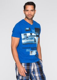 T-Shirt Slim Fit, RAINBOW, azurblau