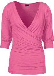 Shirt in Wickeloptik, BODYFLIRT, pink
