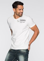 T-Shirt Slim Fit, RAINBOW, wollweiss