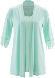 2-in-1-Shirt mit Spitze, bpc selection, hellmint
