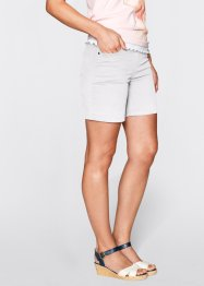 Shorts mit Elastik-Bund, bpc bonprix collection, weiss