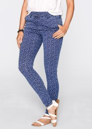 Jeansleggings - designt von Maite Kelly, bpc bonprix collection, blue stone/weiß bedruckt