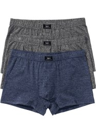 Lot de 3 boxers, bpc bonprix collection, bleu/gris chiné