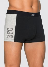 Lot de 3 boxers, bpc bonprix collection, noir/gris clair chiné
