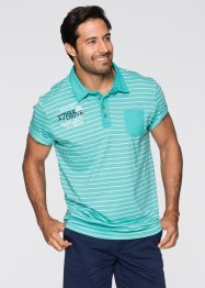 Poloshirt Regular Fit, bpc bonprix collection, pazifikgrün gestreift