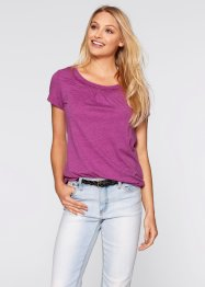 Kurzarmshirt, bpc bonprix collection, violettorchidee melange