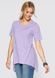 Zipfel-Shirt mit Halbarm, bpc bonprix collection, malve