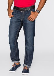 Krempel-Jeans Regular Fit Straight, John Baner JEANSWEAR, dunkelblau used