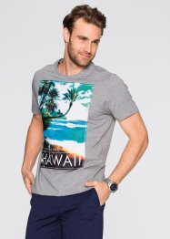 T-Shirt Regular Fit, bpc bonprix collection, weiß bedruckt