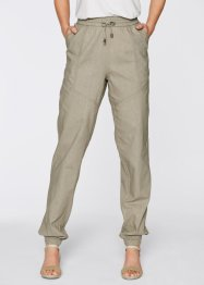 Leinen-Haremshose, bpc bonprix collection, new khaki meliert