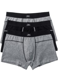 Lot de 3 boxers, bpc bonprix collection, gris chiné/noir