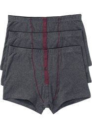 Lot de 3 boxers, bpc bonprix collection, anthracite chiné