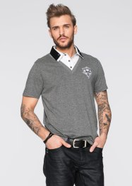 Polo Slim Fit, RAINBOW, gris chiné