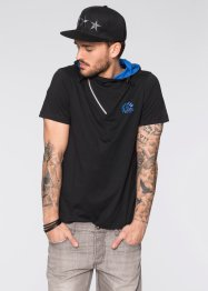 T-Shirt Slim Fit, RAINBOW, schwarz