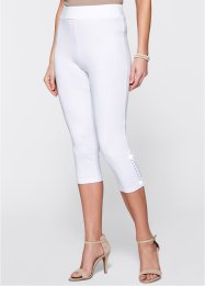 Capri-Leggings mit Nieten, bpc selection, weiß