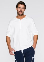 T-shirt manches longues Regular Fit, bpc bonprix collection, blanc