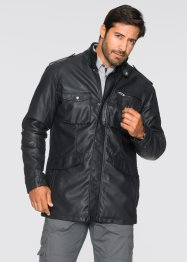 Lederimitat-Langjacke Regular Fit, bpc selection, schwarz
