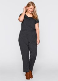Jersey-Jumpsuit, bpc bonprix collection, anthrazit meliert