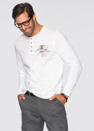 T-shirt manches longues Regular Fit, bpc selection, blanc