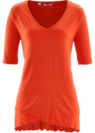 Halbarm-Shirt im Lagenlook, bpc bonprix collection, blutorange