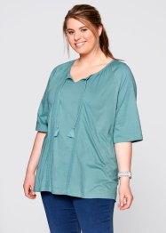 Halbarm-Shirt-Tunika, bpc bonprix collection, pistazie