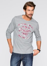 T-shirt manches longues Regular Fit, bpc bonprix collection, gris neutre