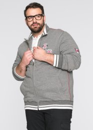 Sweatjacke im Regular Fit, bpc selection, grau meliert