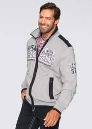 Sweatjacke im Regular Fit, bpc selection, hellgrau meliert