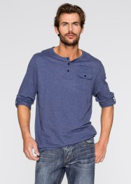 T-shirt à manches longues retroussables Regular Fit, John Baner JEANSWEAR, indigo chiné