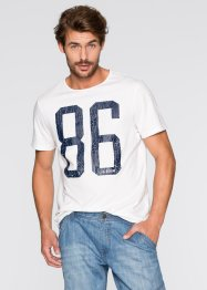 T-Shirt Regular Fit, John Baner JEANSWEAR, weiß