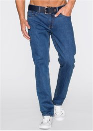 Stretch-Jeans Regular Fit Straight (2er-Pack), John Baner JEANSWEAR, blau+schwarz