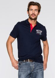 Poloshirt in Regular Fit, John Baner JEANSWEAR, dunkelblau/weiss