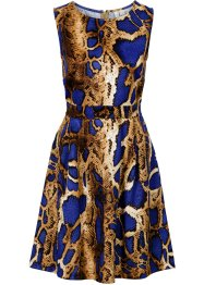 Kleid in Scuba-Optik, BODYFLIRT boutique, leopard blau