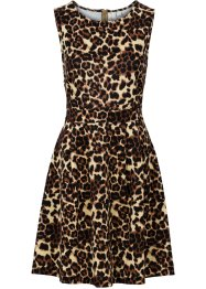 Kleid in Scuba-Optik, BODYFLIRT boutique, leopard braun